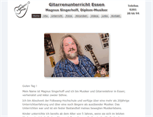 Tablet Preview of gitarrenunterricht-essen.de